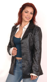 A8 Ladies Leather Blazer