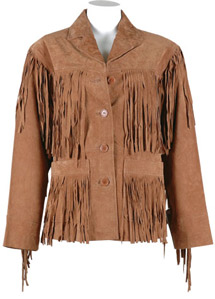 Ladies F200 Suede Fringe Jacket