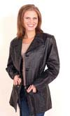 A38 LADIES BELTED LEATHER JACKET