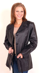 A38 Leather Belted Jacket