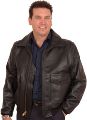G1 Navy Bomber Jacket No Fur Collar in Cowhide