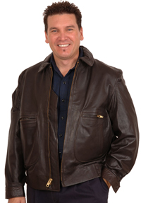 G2 Raider Cowhide Leather Bomber Jacket