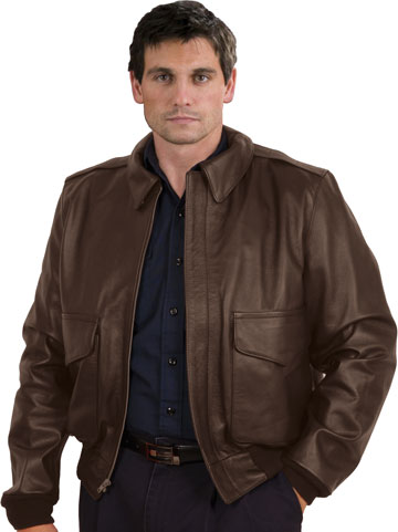 A2 Airforce Dark Brown Cowhide Leather Jacket