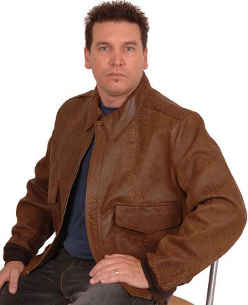 A2 Airforce Brush Lambskin Leather Jacket