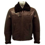 B3 Brown Bomber Fur Coat