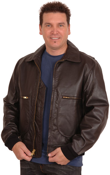 G2 Raider Goatskin Bomber Jacket with Knit Cuffs & Waist USA Made