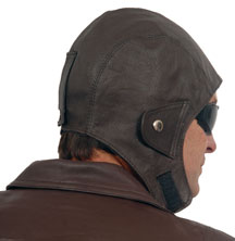 Leather Helmet back view