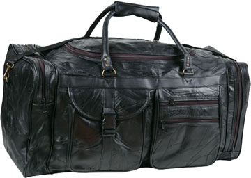 26 inch patchwork leather travel bag click for bigger image