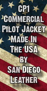 CP1 Commercial Pilot Jacket  USA Made Leather Jacket Sale