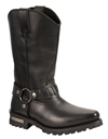MB9015 Mens Milwaukee 11 inch Western Harness Slip on Leather Boots Angle View
