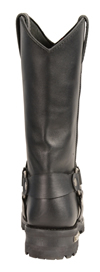 MB9015 Mens Milwaukee 11 inch Western Harness Slip on Leather Boots Back View