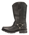 MB9015 Mens Milwaukee 11 inch Western Harness Slip on Leather Boots Inner View