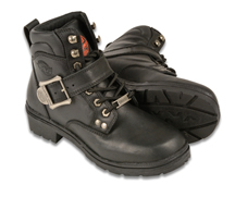 WB9310 Ladies Milwaukee Leather Boots with Buckle and Laces