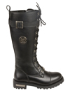 WB9355 Ladies Milwaukee Leather 14 inch Boots with Laces, Calf Buckle and Zipper Buckle View