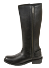 WB9365 Ladies Milwaukee Leather 14 inch Tall Boots with Full Lace Up with Side Zipper Inner Side View