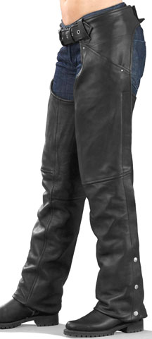LCH1173 Ladies Biker Leather Chaps