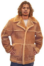 Mens Leather Fur Coats