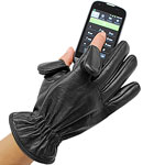 Cell Phone 1 Leather Gloves