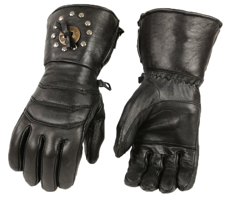 CONCHO PADDED LEATHER GAUNTLET GLOVE SALE $15.95