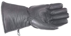 LEATHER PADDED GAUNTLET GLOVES