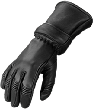 Style 852 Leather Deerskin Gauntlet Glove with zip out gauntlet portion