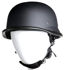 German 502 Novelty Biker Helmet Flat Black