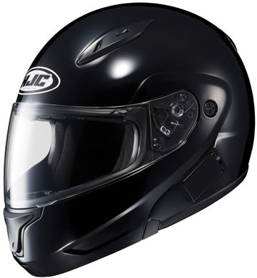 CL-MAX2 HJC Gloss Black Motorcycle Modular Helmet Modular Click for Large View