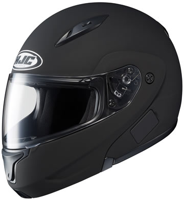 CL-MAX2 HJC Flat Black Motorcycle Modular Helmet Modular Click for Large View