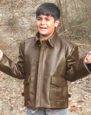 Kids Indiana Jones made in USA Leather Jacket