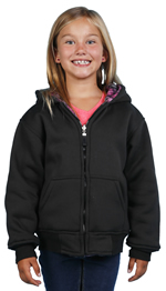 K1179 Boys and Girls Fleece Oak Tree Camouflage & Inner Sherpa Fur Side Two