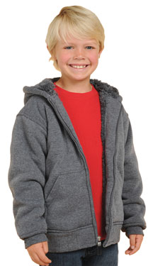 More Colors in the K1179 Kids Fleece Hoodie in the Kids Department