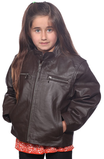 K123 Unisex Brown Waist Jacket with Kosack and Zippered Pockets