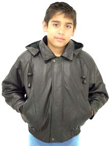 Boys Leather Bomber Jacket - Pl Jackets