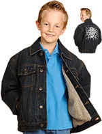 Kids Denim Jacket with Buttons and Inside fur Liner