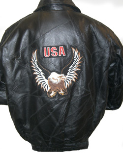 Bomber Jacket / Eagle Patch in Front & Back qVRY3