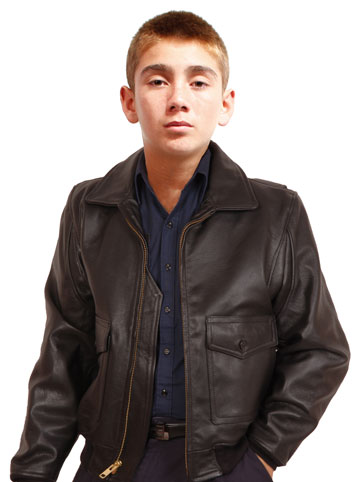 Kids G1 Navy Military Specs USA Made Brown Leather Bomber Jacket ...