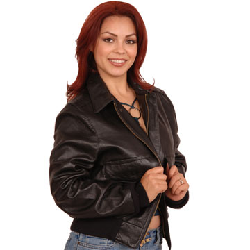Ladies A2 Airforce Military Bomber USA Made Cowhide Leather Jacket