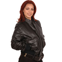 Ladies CP1 Commercial Pilot Lambskin Bomber Jacket