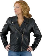 Ladies 102X Classic Biker Leather Jacket