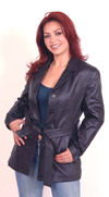 A3 LADIES BELTED LEATHER JACKET
