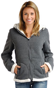 Click here for the F1269 Ladies Charcoal Poly Fleece Hood