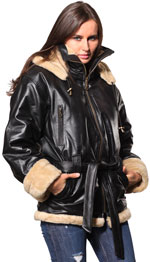 Ladies Leather Jackets with Fur Department