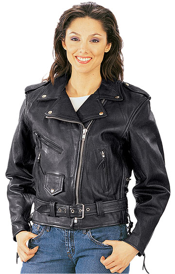 C11 Ladies Biker Jacket Click Here for Large View
