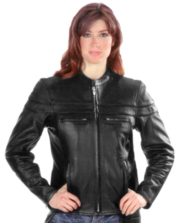 LC6537 Ladies Premium Leather Biker Jacket with Vents