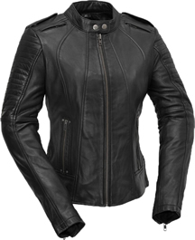 LB104 Woman Motorcycle Lambskin Jacket with Vents and Sport Collar