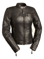 LC155 Ladies Black Leather Kosac Sport Biker Jacket