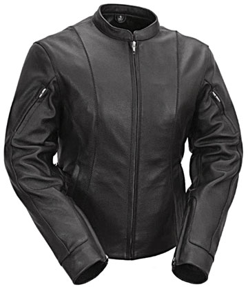 LC177 Ladies Motorcycle Racer Jacket with Adjustable Side Belts Larger View