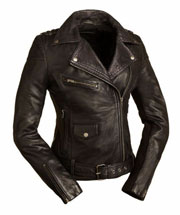 LC184 Ladies Cruiser Biker Jacket with Zipper Chest Pocket