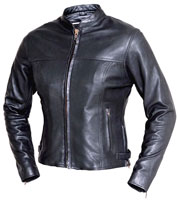 LC6557 Ladies Light Weight Leather Jacket with Mandarin Sport Collar