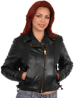 Save 50% or More on Ladies Motorcycle and Fashion Leather Leather Jackets